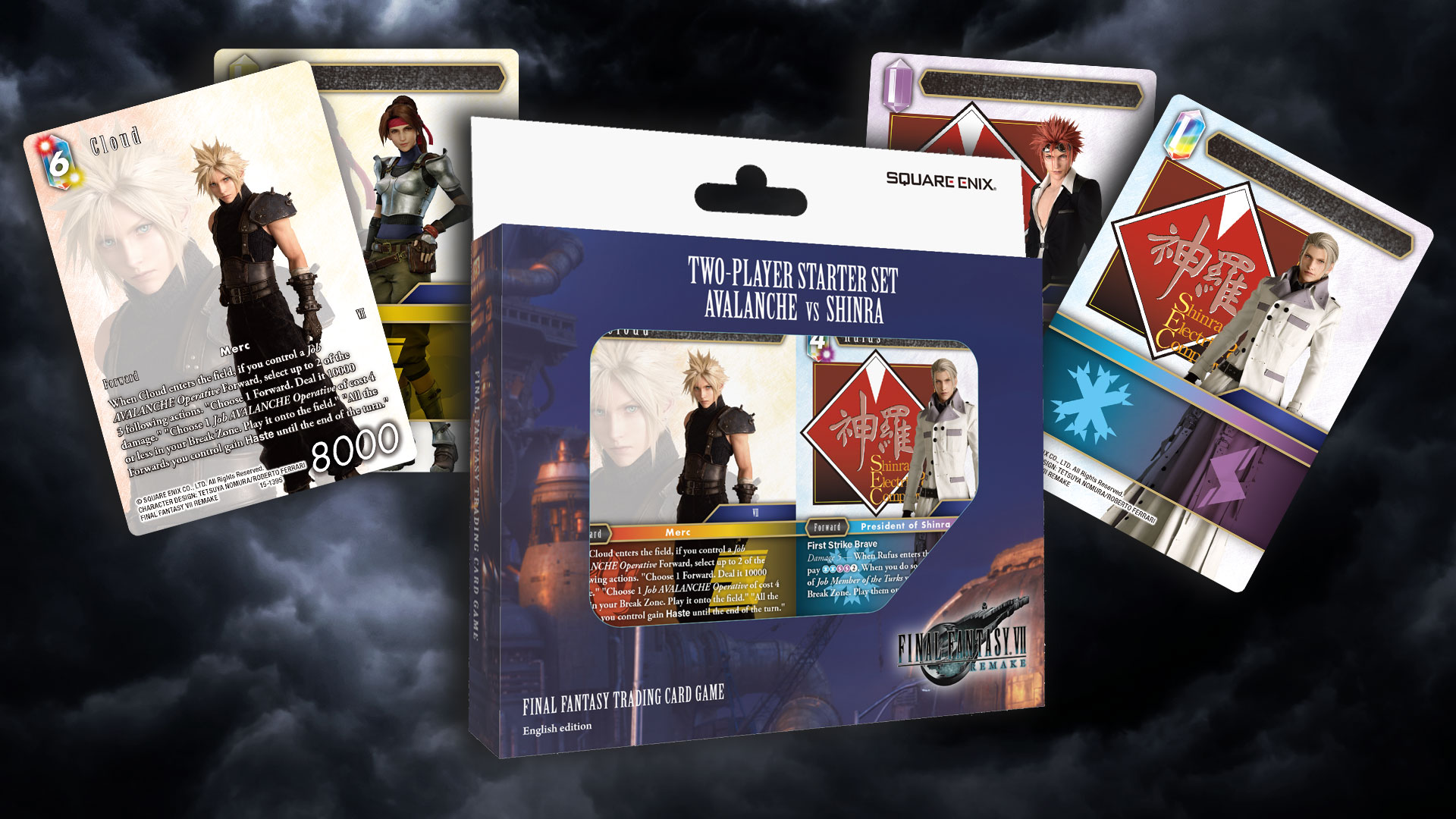 Background image showing the starter packshot and a selection of cards