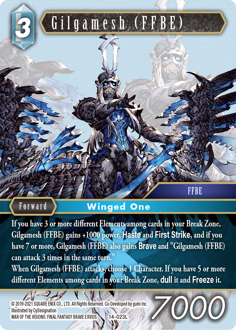 Opus XIV Card of Gilgamesh from War of the Visions
