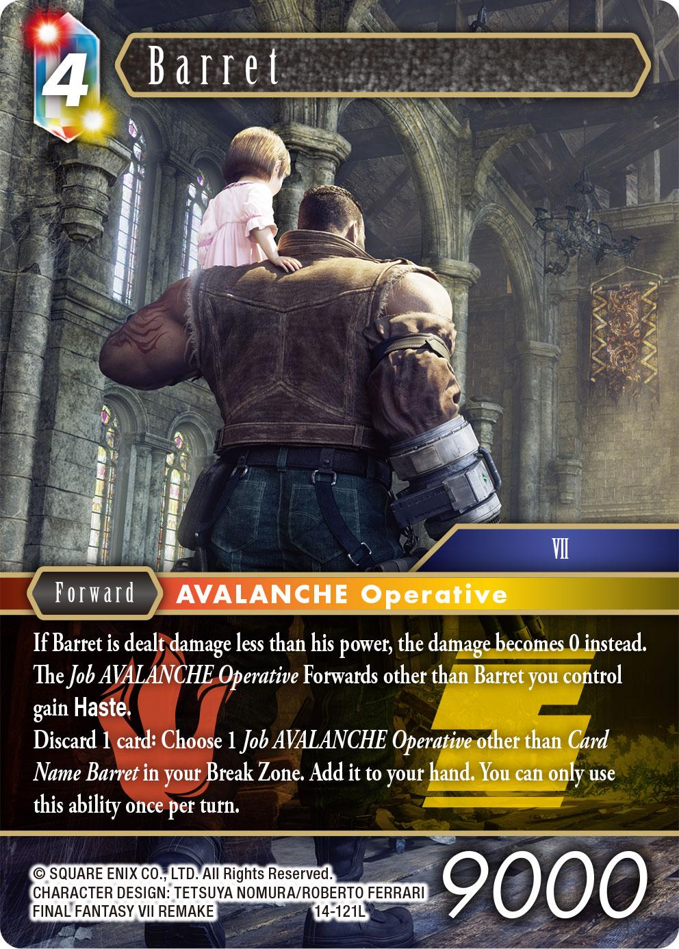 Fire/Earth Barret Opus XIV Legend Card