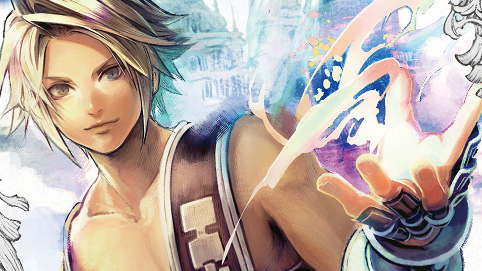 Vaan from FFXII with magic coming from his hand