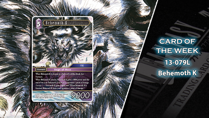 Opus XIII Card of the Week - Behemoth K