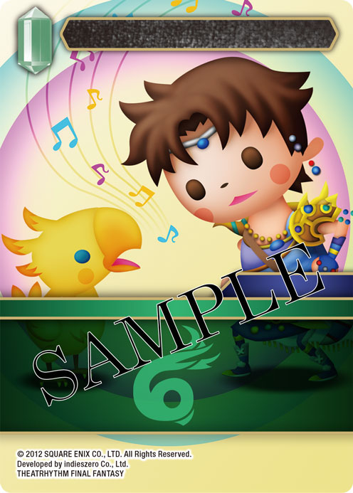 Wind Card featuring Theatrhythm versions of Bartz and Boko
