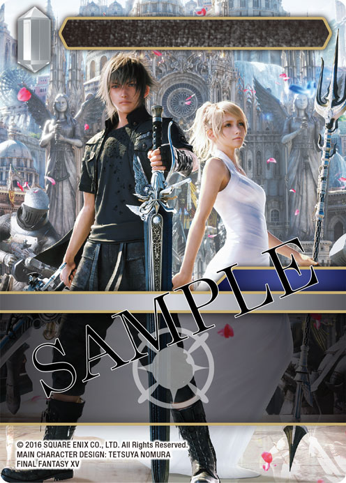 Light Card of Noctis and Lunafreya from FFXV standing side by side.